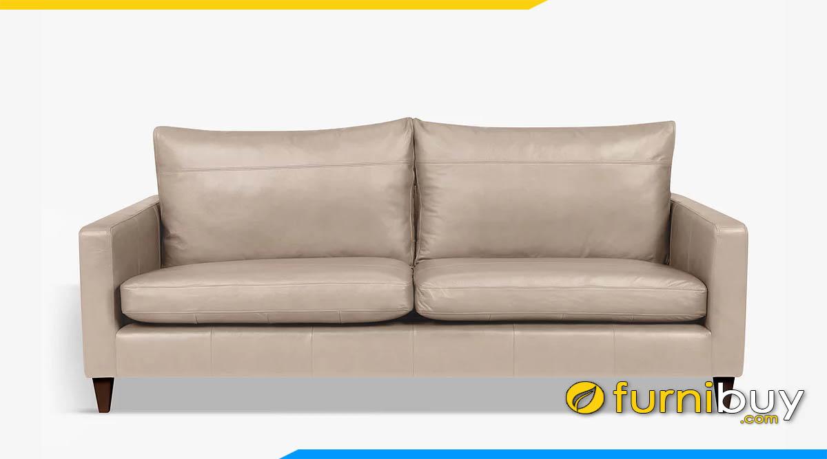 sofa vang da mau be 2 cho ngoi