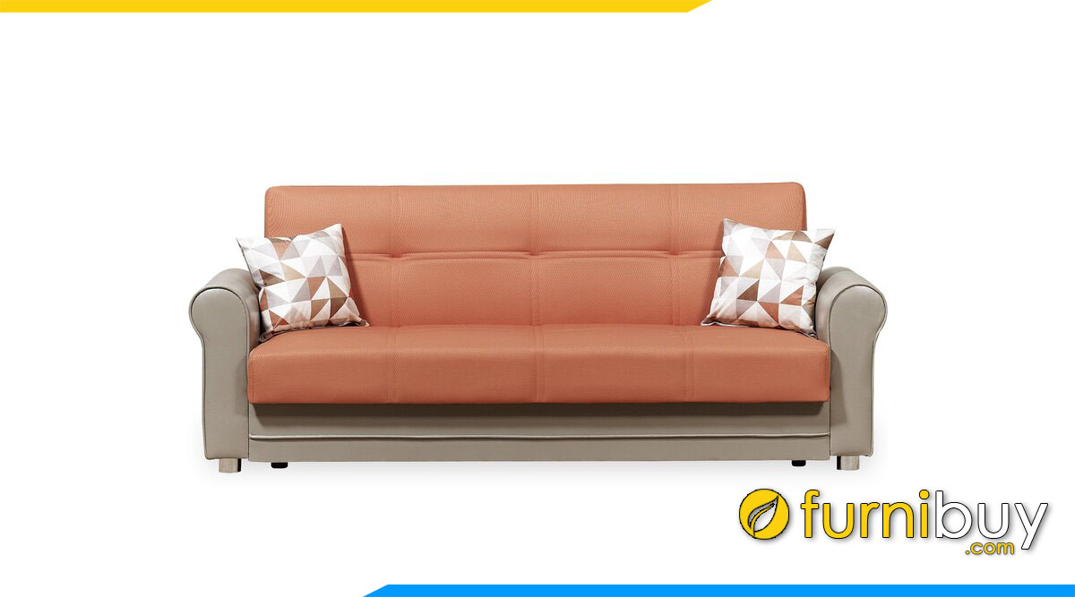 sofa vang da phoi 2 mau da cam va ghi xam