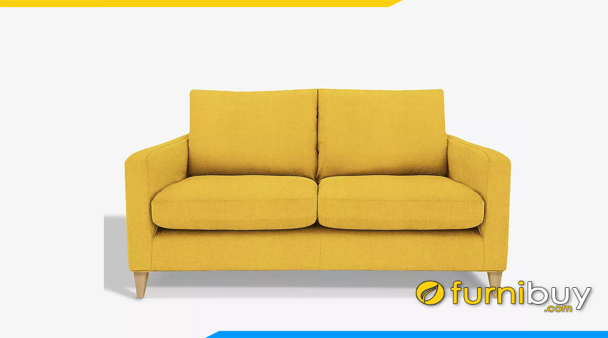 sofa vang dep mau vang 2 cho ngoi hien dai