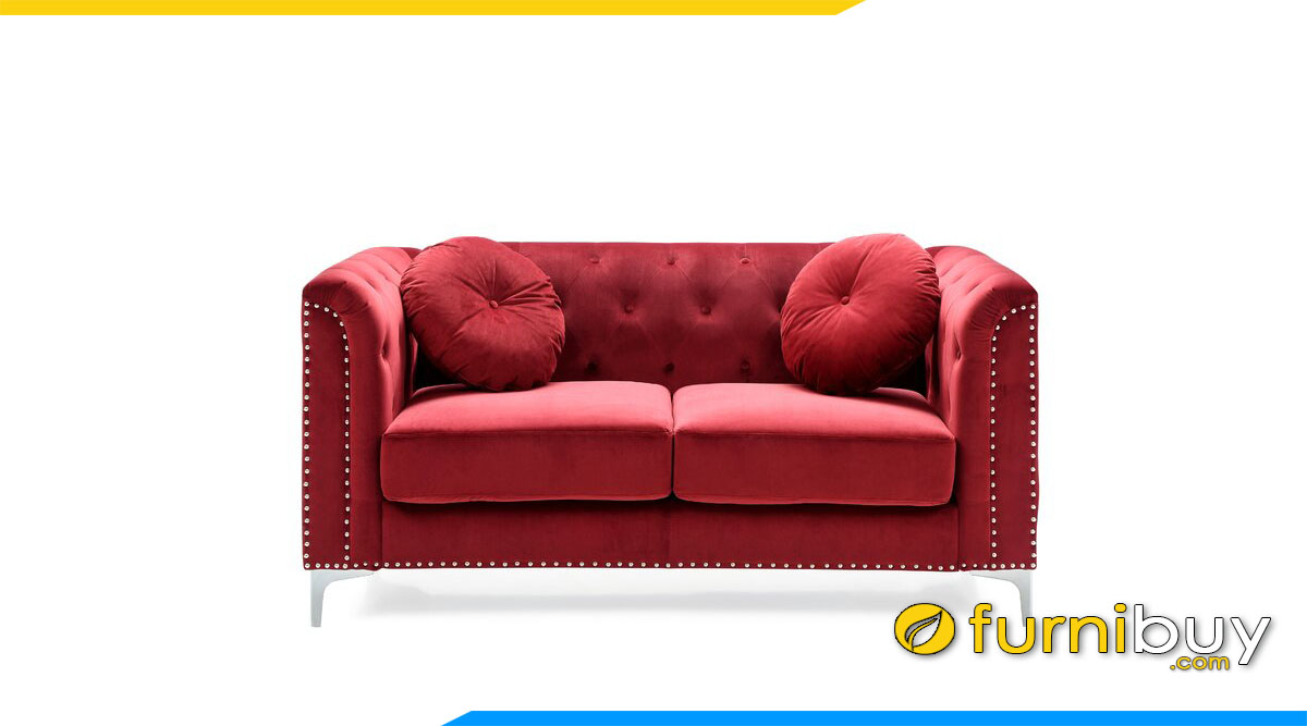 sofa vang da mini nho xinh 2 cho ngoi