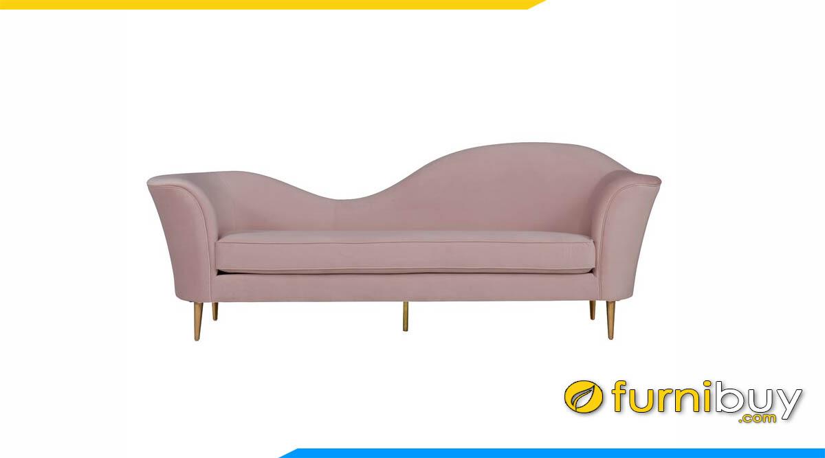 sofa vang doc dao mau hong nhat ke phong khach