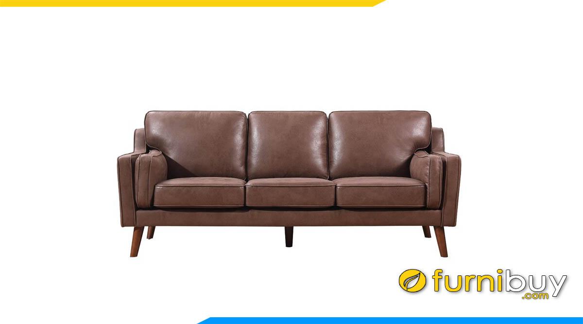 sofa vang don gian boc da mau nau lanh