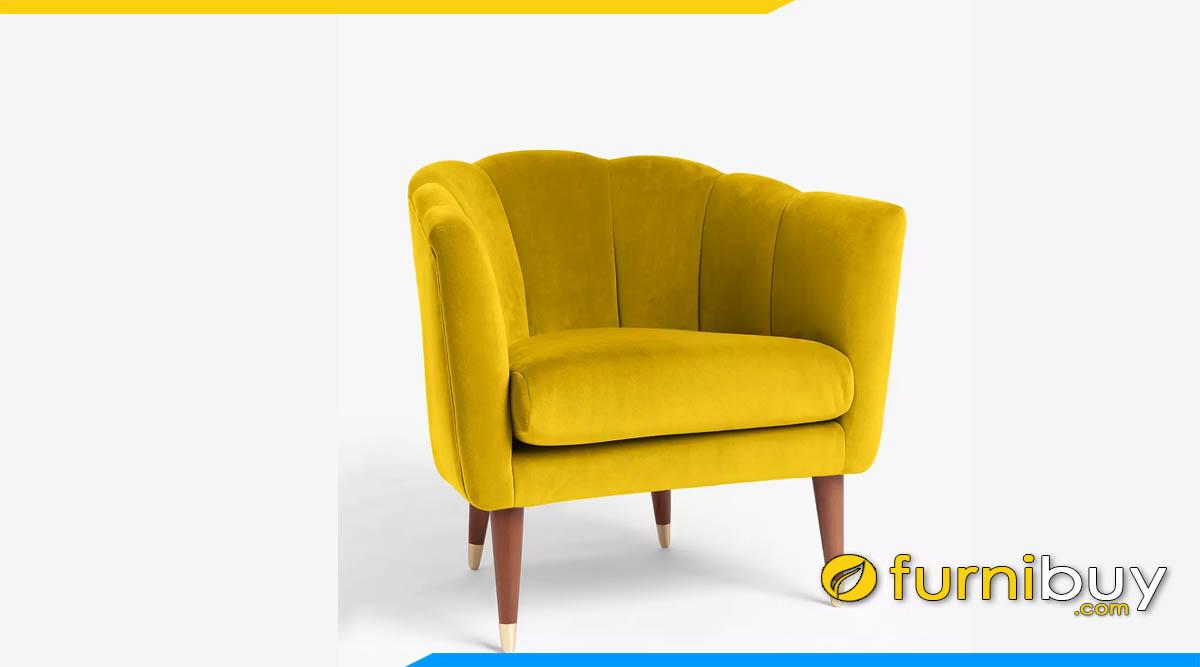 sofa vang don mau vang hien dai tua canh hoa