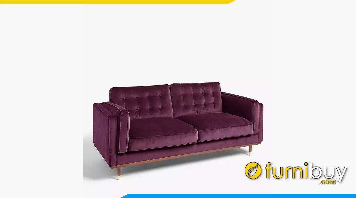 sofa vang hien dai boc nhi mau tim