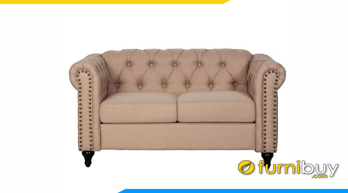 sofa vang mau be tan co dien dang mini
