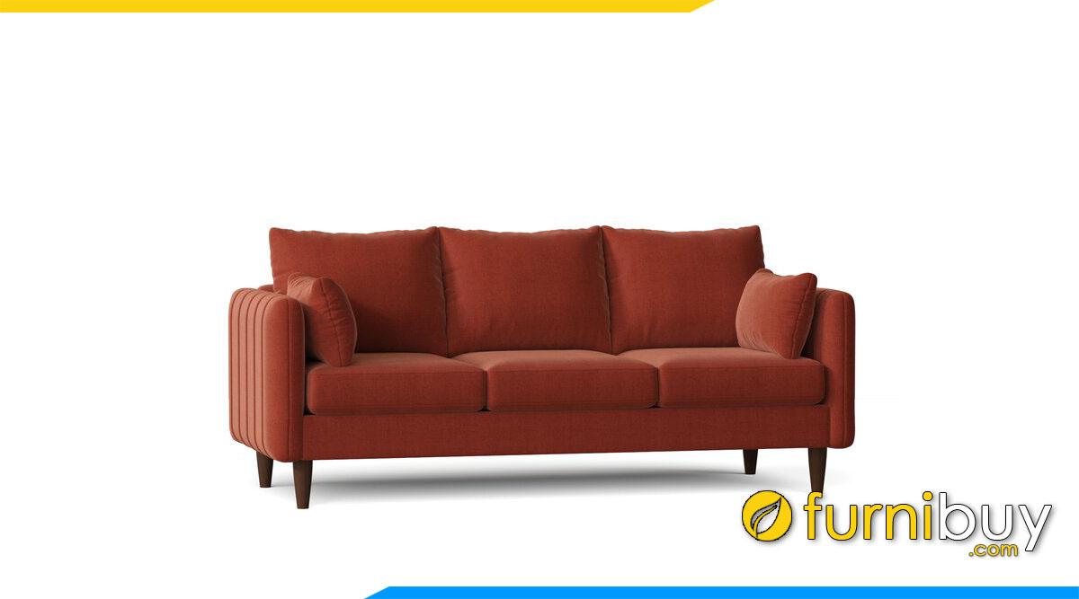 sofa vang mau da cam 3 cho ngoi boc ni