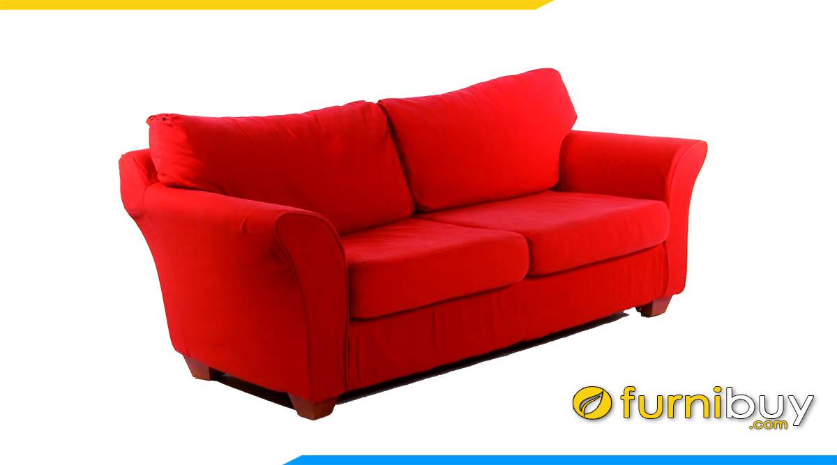 sofa vang mau do 2 cho ngoi ke phong khach