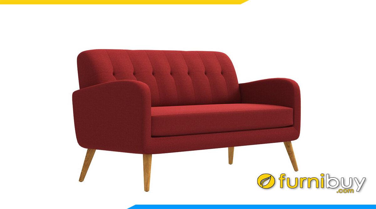 sofa vang mau do hien dai chan de cao