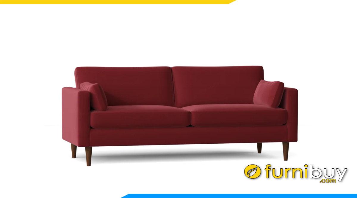 sofa vang mau do kieu dang don gian 2 cho ngoi