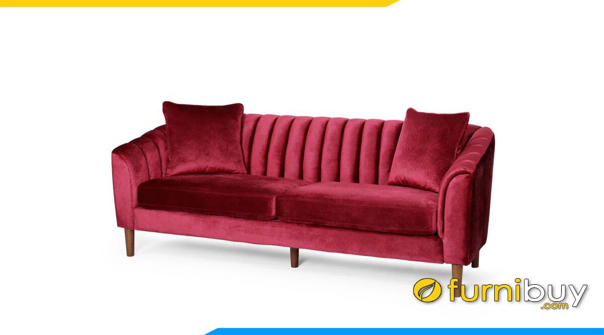 sofa vang mau do phong cach luxury ke phong khach