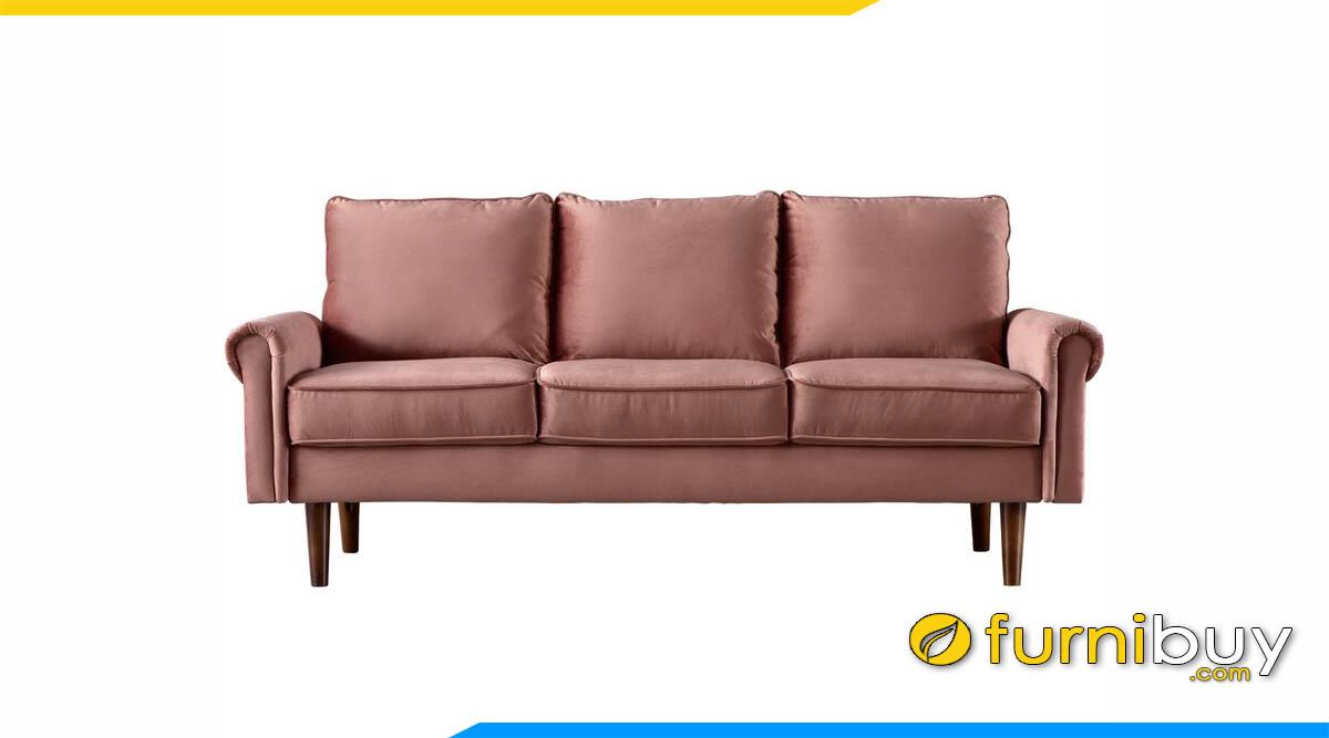 sofa vang mau hong dat 3 cho ngoi boc ni