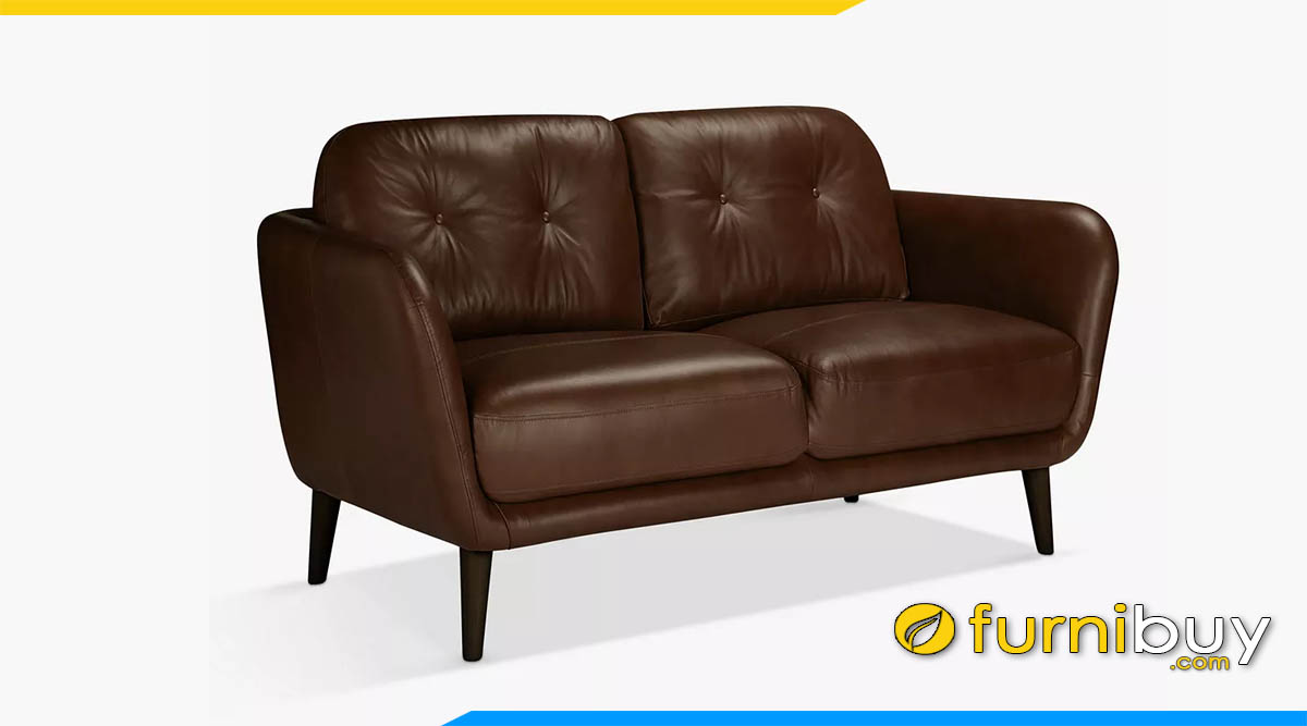 sofa vang mini 2 cho ngoi mau nau