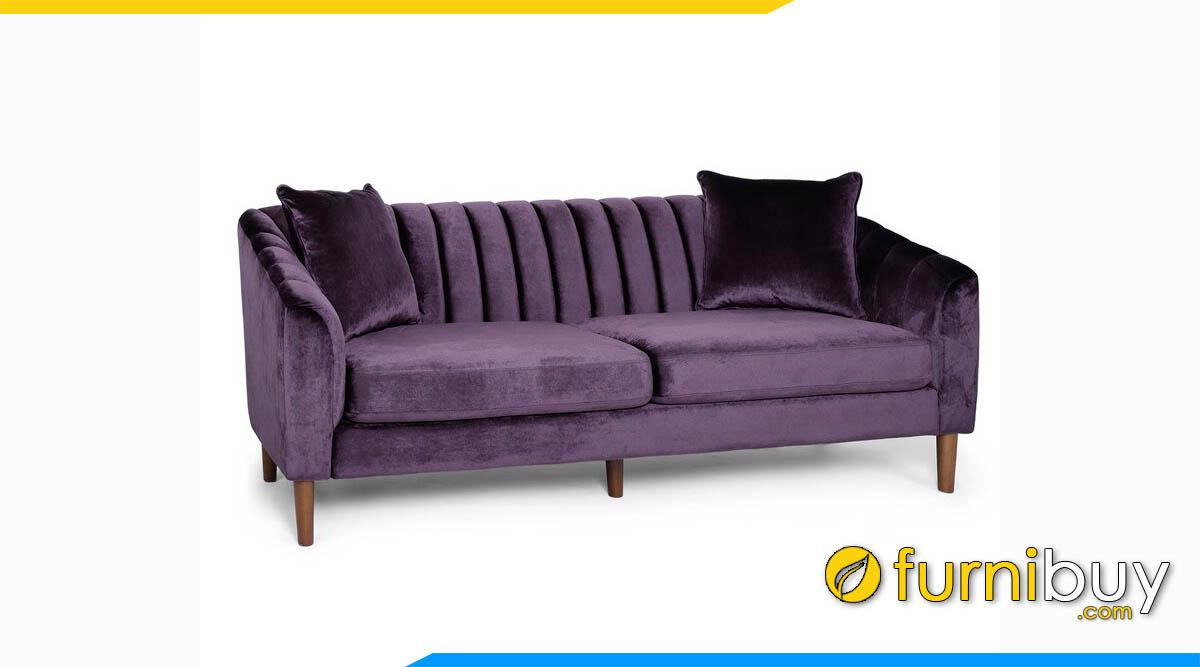 sofa vang nhung mau tim cuc ki sang trong