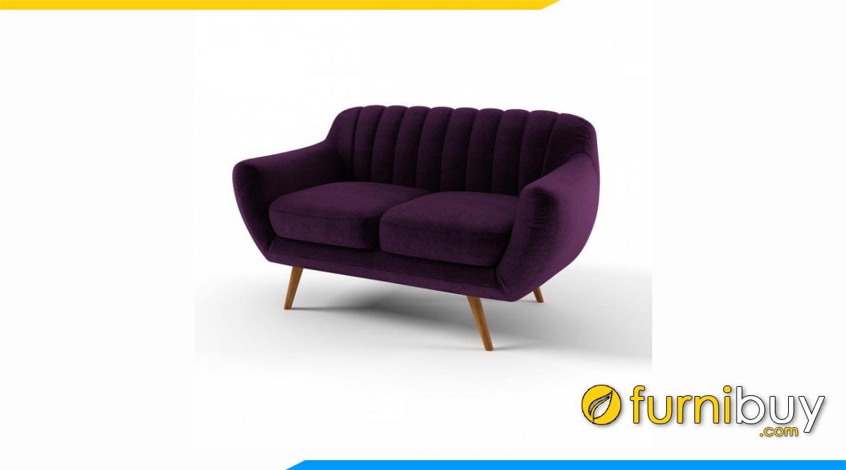 sofa vang ni 2 cho ngoi mau tim