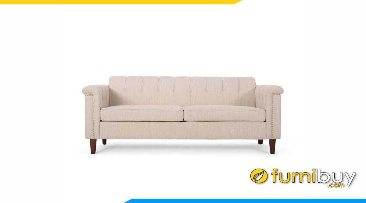 sofa vang ni mau be ke phong khach dep