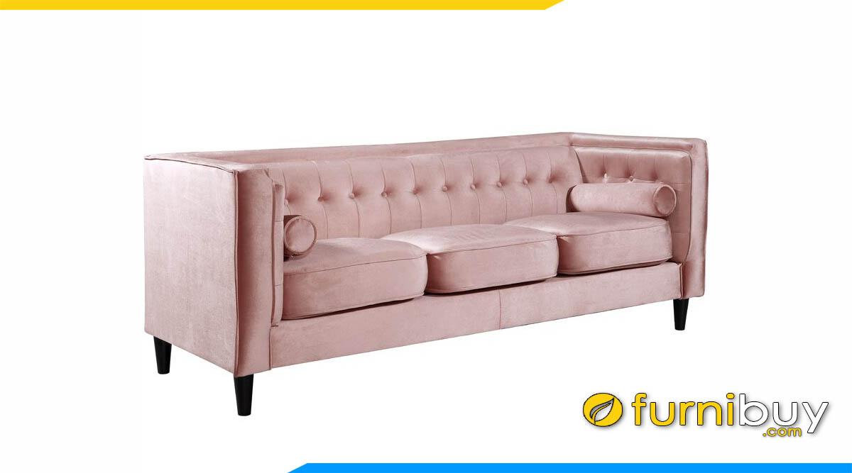 sofa vang ni mau hong nhat kieu dang vuong