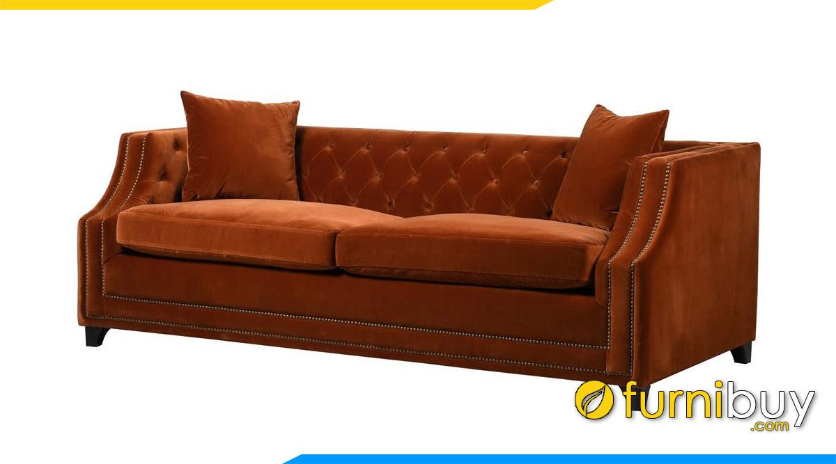 sofa vang tan co dien mau cam chay boc ni