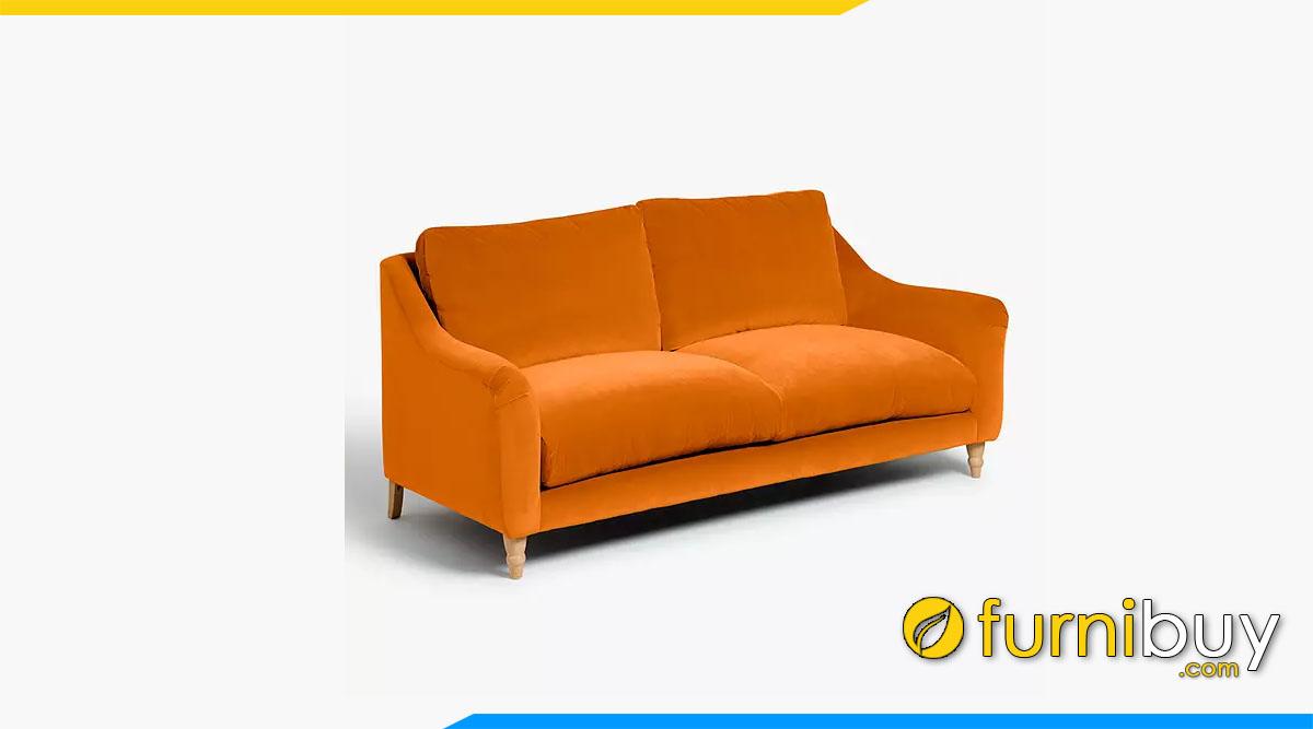 sofa vang tay tua mong mau da cam boc ni