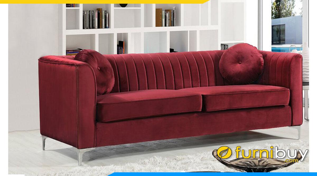 sofa vang tay tua vuong mau do