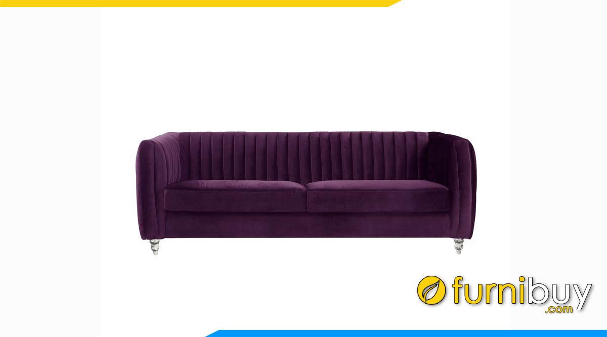 sofa vang tay vuong mau tim don gian