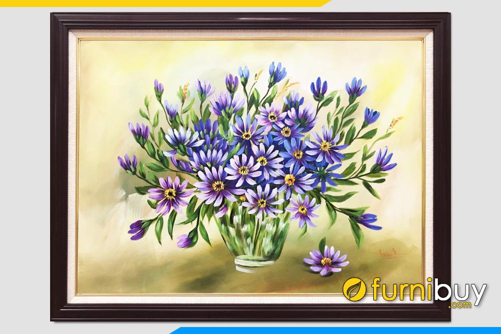 Tranh son dau nghe thuat binh hoa lo hoa bon mua