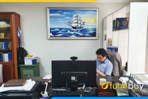Tranh treo phong giam doc son dau thuyen buom doanh nhan tsd 546