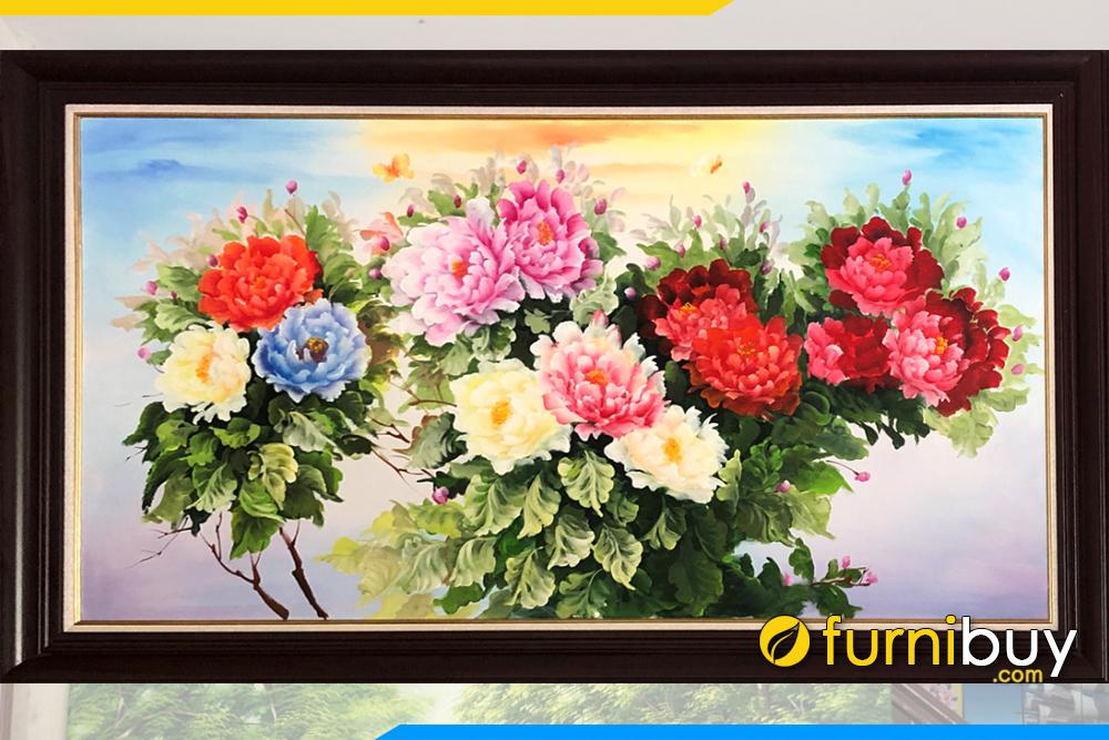 Buc tranh son dau dep hoa mau don moi nhat