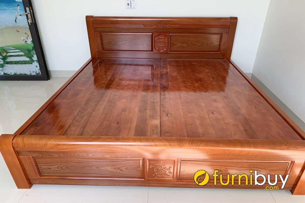 báo giá giường gỗ xoan đào 1m8 đẹp