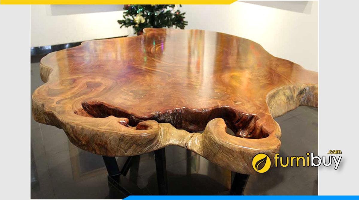 Hình ảnh Bộ bàn ăn gỗ Lim Lào hình tròn đẹp
