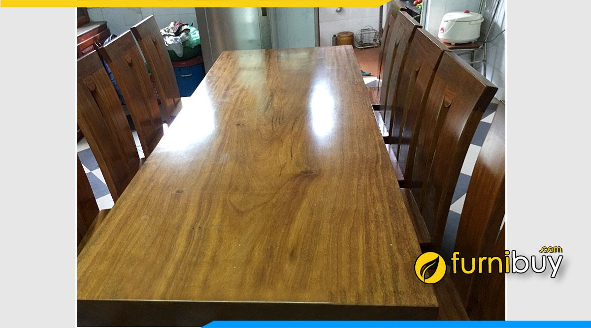 Ảnh Bộ bàn ăn gỗ Lim Vang tự nhiên cao cấp