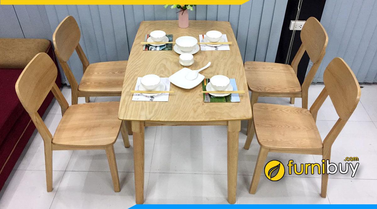Hình ảnh Bộ bàn ăn gỗ tần bì 4 ghế giá rẻ chỉ từ 4tr990k