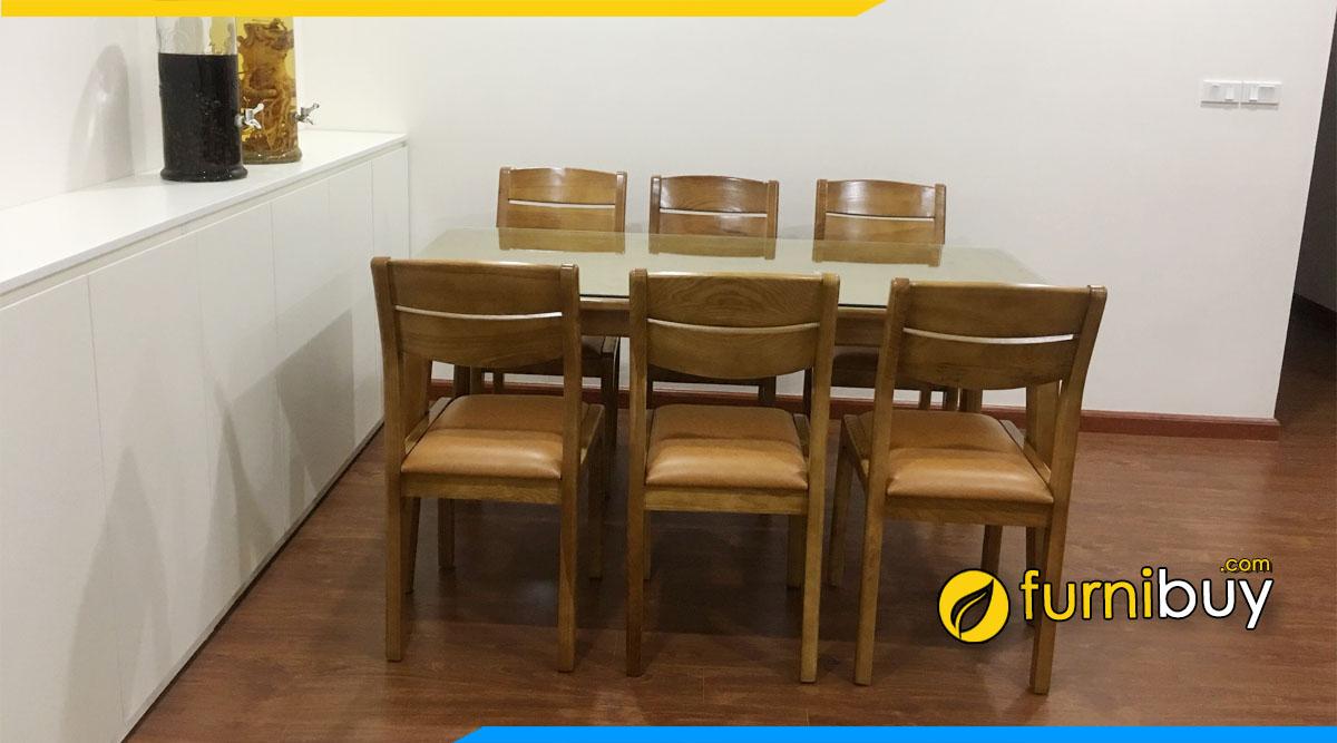 Bộ bàn ăn gỗ tần bì 6 ghế đẹp được ưa chuộng