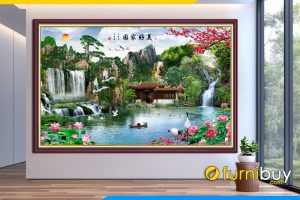 Tranh phong canh dep trung quoc son thuy thac nuoc