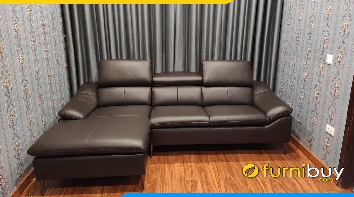 ghe sofa goc boc da microfiber cao cap