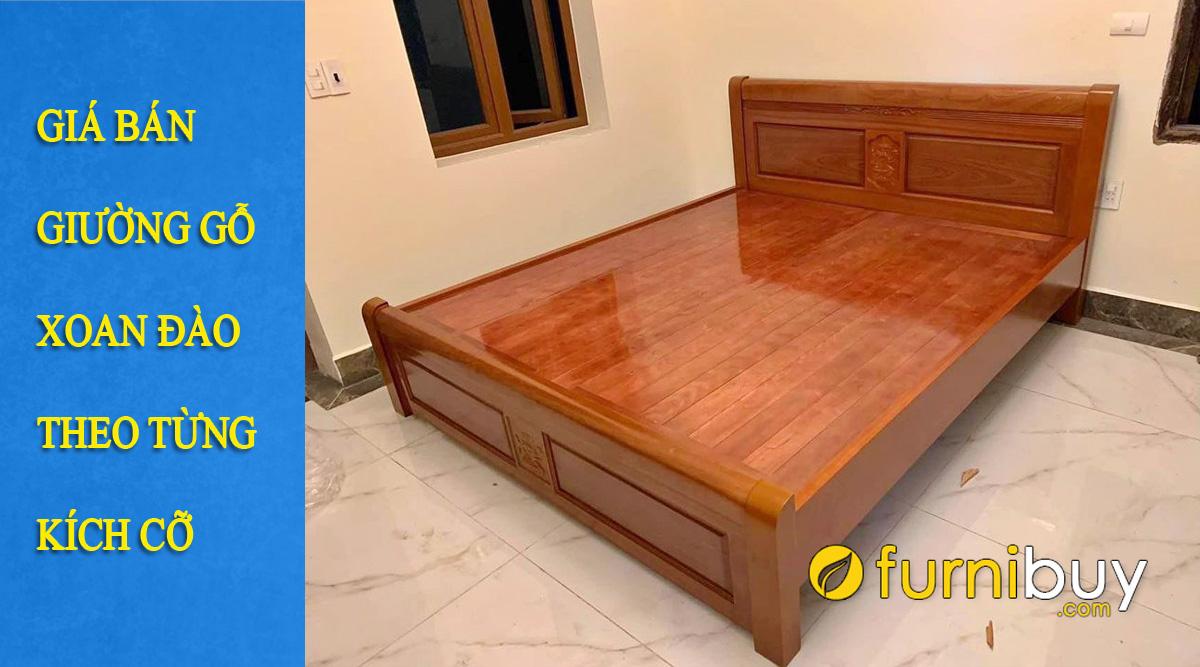 giá bán giường gỗ xoan đào bao nhiêu tiền