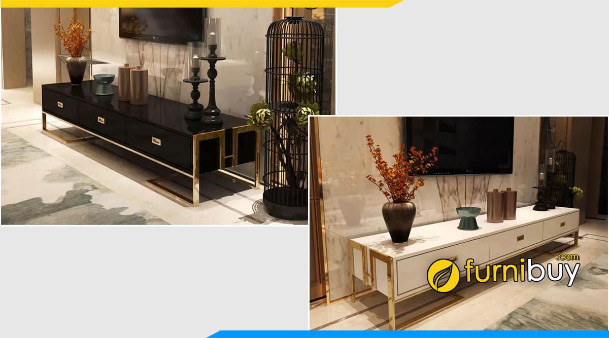 Mẫu tủ để tivi tân cổ điển đẹp gỗ công nghiệp giá rẻ