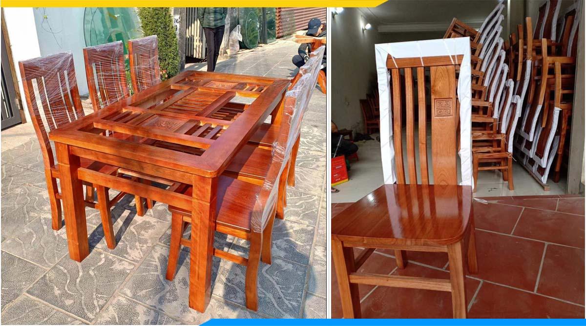 Bộ bàn ăn gỗ xoan đào thanh lý giá rẻ nên mua không?