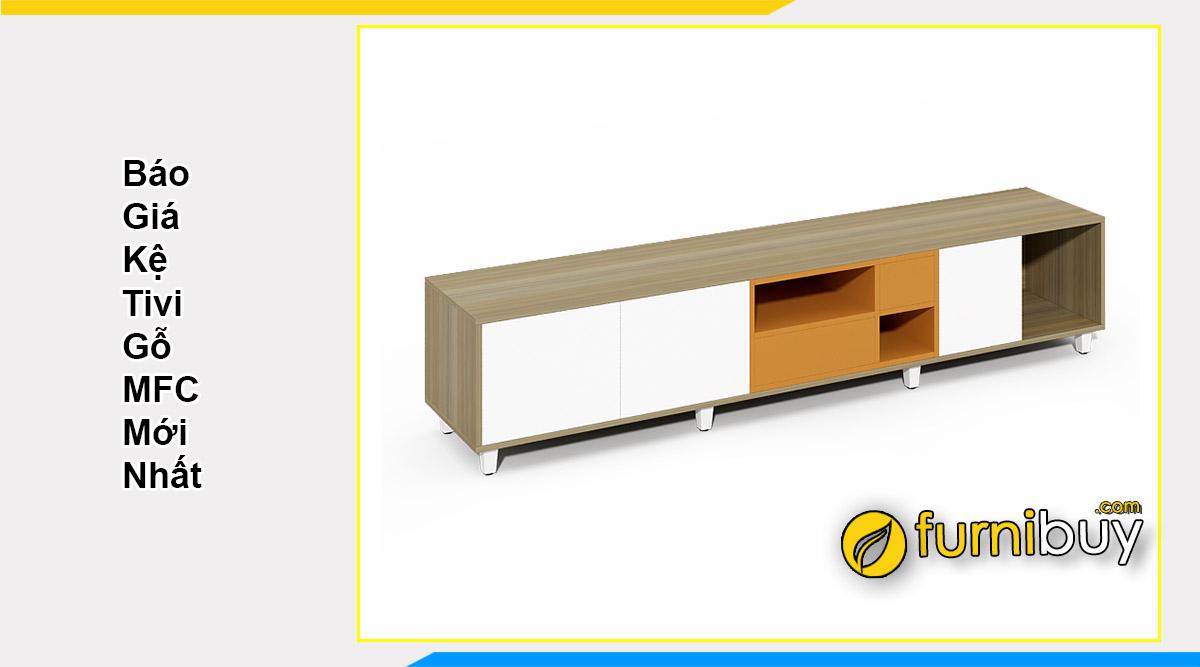 Báo giá kệ tivi gỗ MFC công nghiệp mới nhất