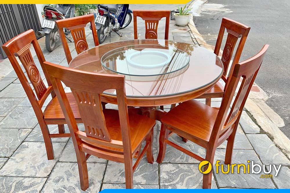 Bộ bàn ăn gỗ xoan đào có tốt không, ưu nhược điểm