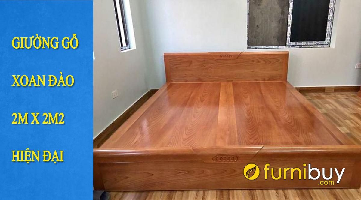 các mẫu giường gỗ xoan đào 2mx2m2 đẹp