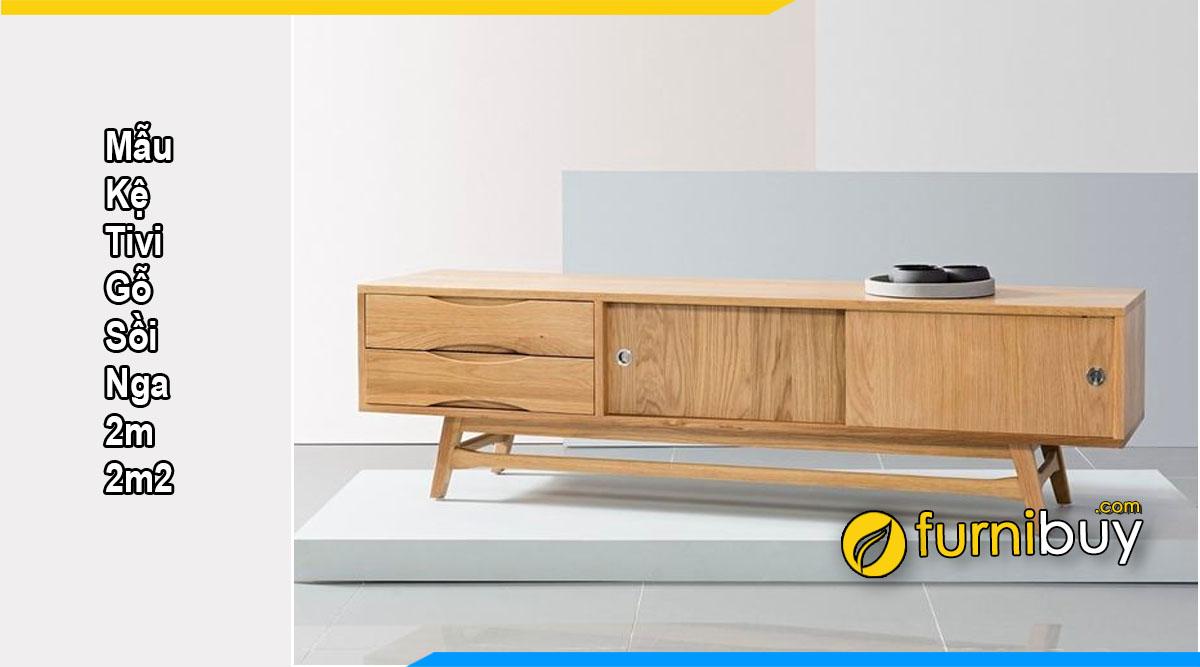 Chọn kệ tivi gỗ sồi Nga 2m cho phòng khách đẹp