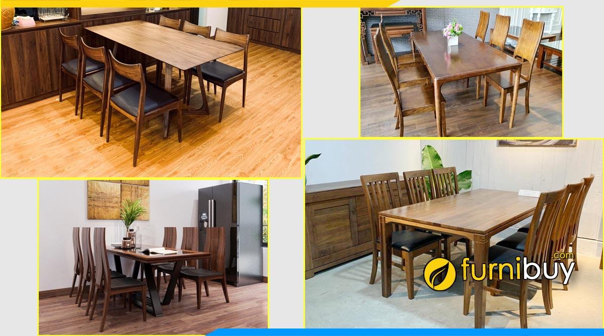 Cửa hàng bán bàn ăn gỗ óc chó đẹp giá rẻ Hà Nội furnibuy