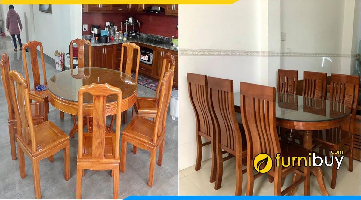 Cửa hàng bán bàn ăn gỗ xoan đào đẹp giá rẻ Hải Phòng