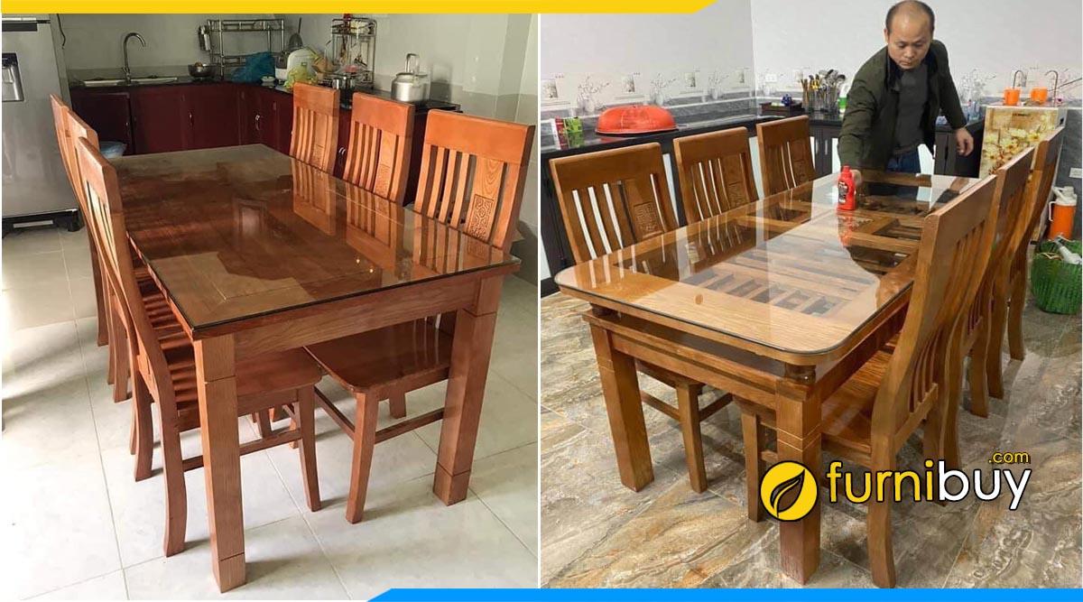 Cửa hàng bán bàn ăn gỗ xoan đào Quảng Ninh uy tín