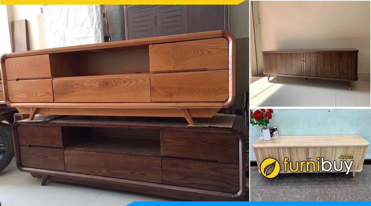 Cửa hàng bán kệ tivi gỗ sồi Nga giá rẻ Hà Nội