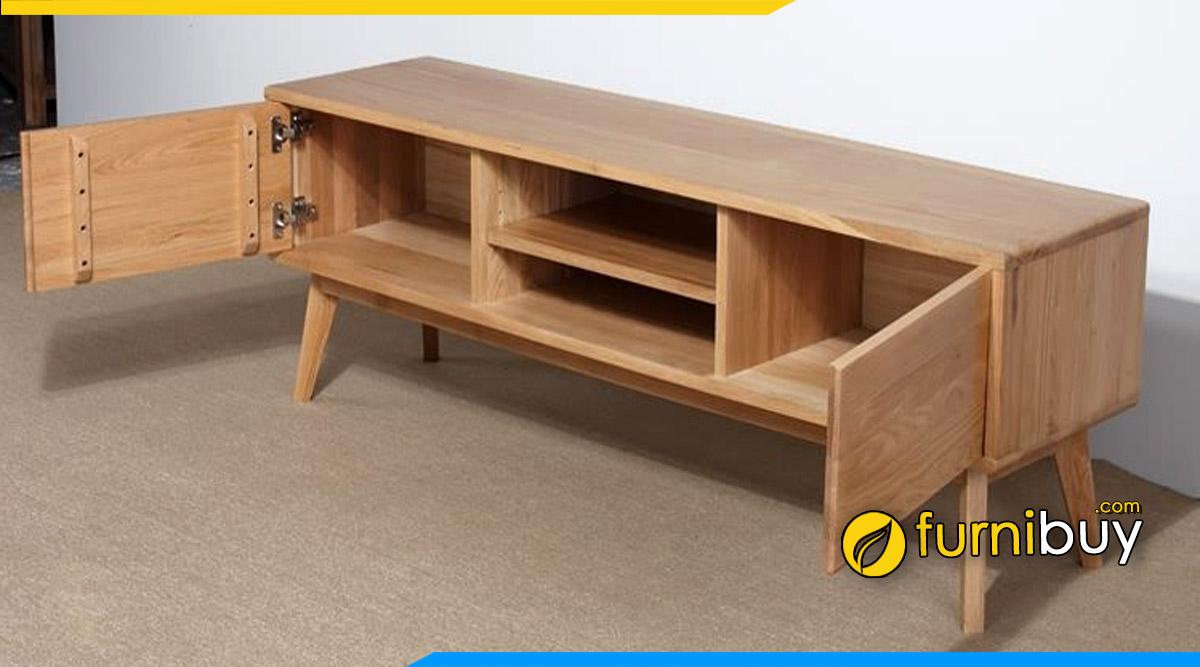 Hình ảnh Mẫu kệ tivi gỗ sồi Nga phòng khách nhỏ