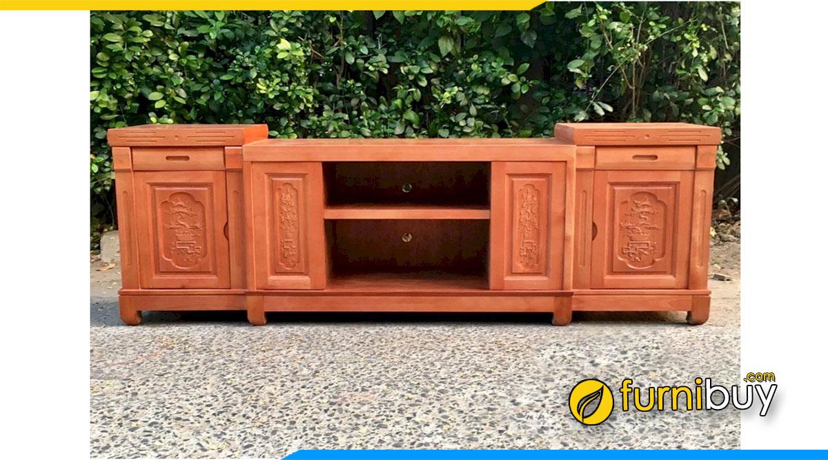 Hình ảnh Mẫu kệ tivi gỗ xoan đào 2m giá rẻ từ 5tr