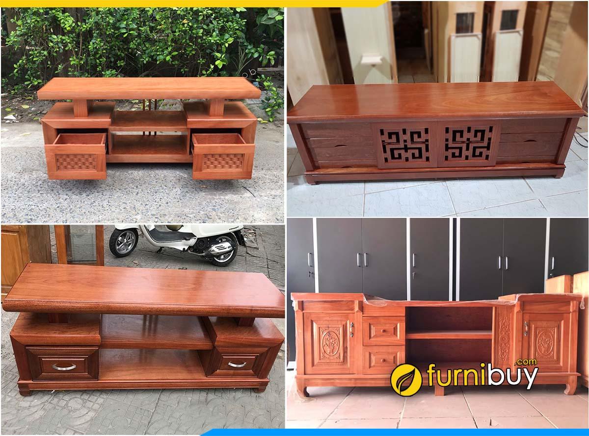 kệ tivi gỗ xoan đào Hà Nội đẹp giá rẻ tại Furnibuy