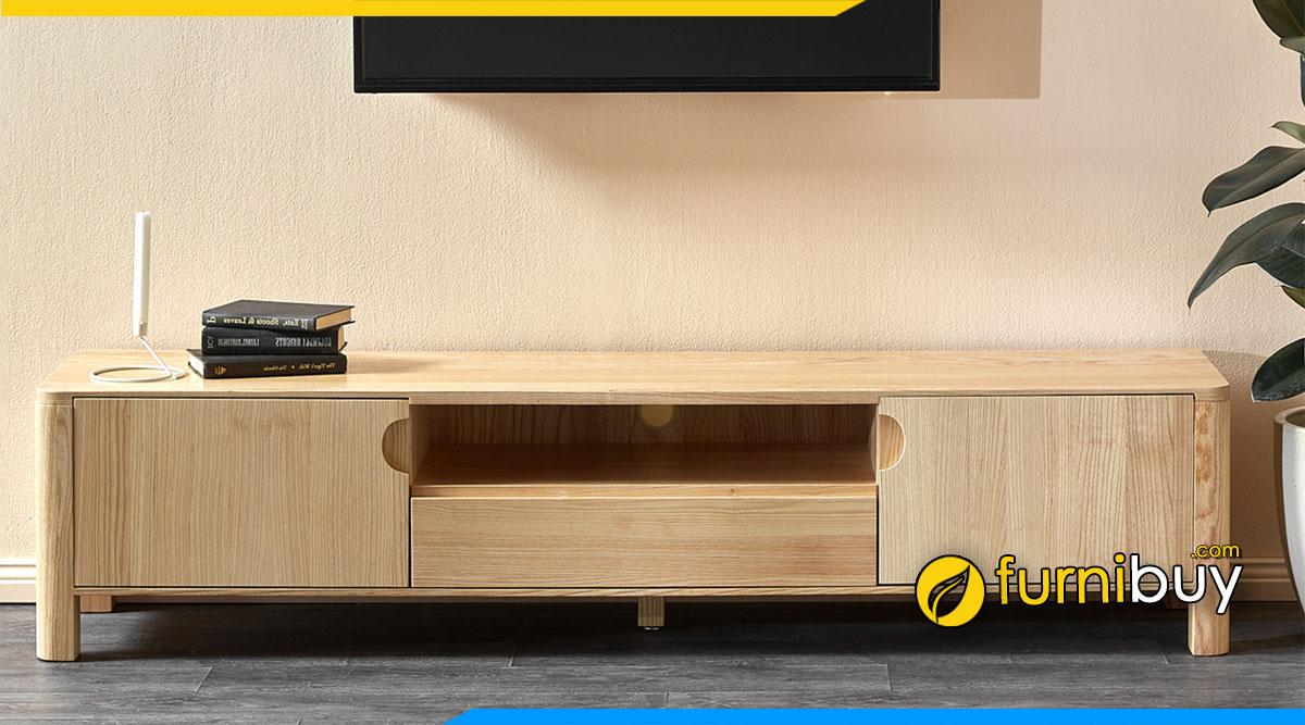 Hình ảnh Mẫu kệ tivi đẹp 2m gỗ sồi Nga hiện đại