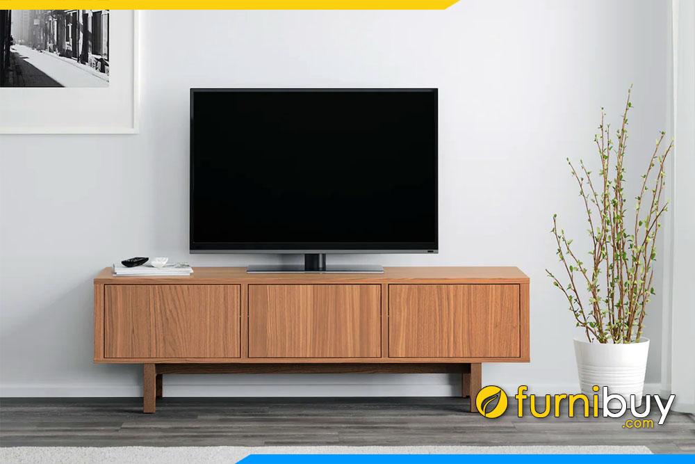 hình ảnh mẫu kệ tivi gỗ mdf phủ veneer gỗ tần bì đẹp hiện đại